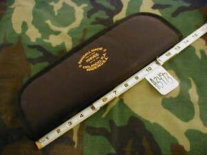 "RANDALL KNIFE KNIVES 14"" ZIPPER CASE BLACK w/GOLD EMBROIDERY RMK LOGO  #A3493"