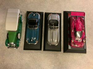 Lot of Four 1/43 Die-Cast Vehicles -  Lincoln & Jaguar by Best RIO