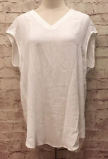Chicos Size 1 Essential Layer Short Sleeve Top Langley New White