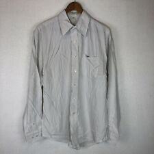 NWT Port Authority Men's Button Up Shirt Bamboo Rayon Sustainable Gray Size M