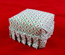 Dolls House Miniature 1 12 Scale Living Room Furniture Chintz POUFEE Foot Stool