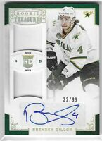 2012-13 ROOKIE ANTHOLOGY BRENDEN DILLON AUTO DUAL PATCH RC #120 DALLAS STARS /99