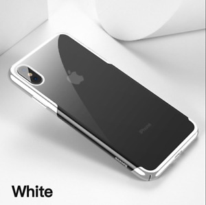 Case Hard Cover for iPhone XS WHITE Clear Luxury PC Plating Protective Baseus