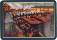 Playing Cards Single Card Old Wide LEE Sheffield STEELWORKS Steel Advertising 2