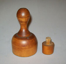 Old Antique Vtg 19th C 1800s Shaker Maple Donut / Biscuit Cutter Complete Nice