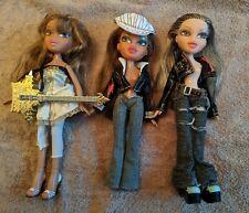 Bratz Bundle of Three Dolls - Rock Angelz, Girlz Really Rock, Full Outfit Shoes