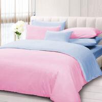 100% Egyptian Cotton 1000-TC 3 Piece Reversible Duvet Cover All Sizes/Colors