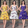 Womens Vintage 1950'S Rockabilly Evening Party Skater Swing Tea Dress Size 8-20