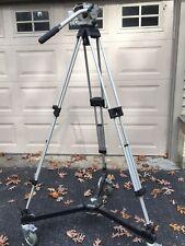 camera tripod Vinten                              w/ Vinten wheel base