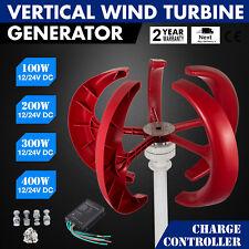 100-600W DC12V/24V Wind Turbine Generator Lanterns Vertical Axis Controller 5