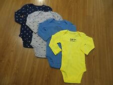 3 or 4 Pack Original Carter's Baby Boys Girls Long Sleeve Bodysuits Clothes Set Bl03 6 Months