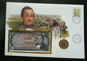 Colombia President 2000 FDC (banknote coin cover)