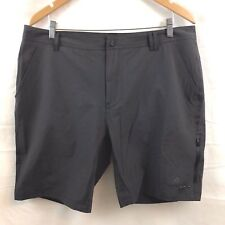 Adidas Mens Athletic Shorts Size 40 Dark Gray Nylon Spandex Hiking Camping New