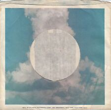 Company Sleeve 45 Asylum - Blue Sky W/ White Clouds And Cage Design
