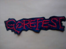 GOREFEST,SEW ON RED EMBROIDERED LARGE BACK PATCH