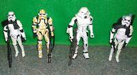 Star Wars Stormtrooper + Spacetrooper + Evo Trooper Action Figure Lot - Used