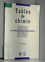 Tables de chimie : Un mémento pour le laboratoire