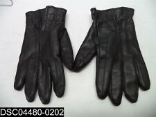 Used: Black Leather Gloves with Zipper