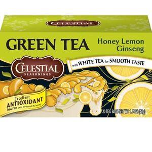 Celestial Seasonings Green Tea Honey Lemon Ginseng with White Tea