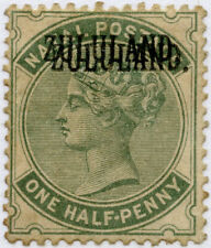 ZULULAND 1888 DOUBLE OVERPRINT SG12a HINGED MINT TONED cv £1100