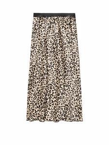 Victoria's Secret VS PINK Leopard Print Midi Satin Skirt By Knit Riot SZ XS,NEW