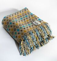 Loom & Bobbin UK Made Wool Blanket Welsh Tapestry / Fair Isle Design - Cabin
