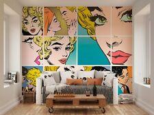 ohpopsi Couples Kissing Pop Art XL Wall Mural