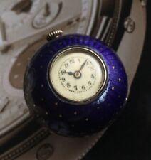 Reloj de bolsillo Antiguo Colgante De Plata Bola orb