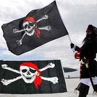 Hot Saling Halloween Jolly Roger Skull Crossbones Pirate Flags 90x150 cm Banners