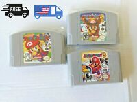 Mario Party 64 Bundle pack. All 3 Reproduction Cartridges for N64 USA