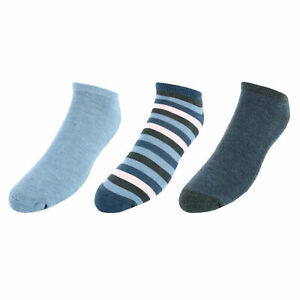 New Red White & Crew Men's Striped No Show Socks (3 Pair Pack)