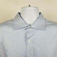 Jos A Bank Reserve No Wrinkles Blue Striped Mens Dress Button Shirt Size 17 - 35