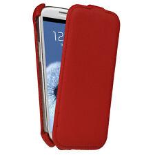 Rot Leder Tasche für Samsung Galaxy S3 III i9300 Android Flip Schutz Hülle Etui
