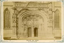 France, Brou, le Monastère Royal, le Grand Portail Vintage albumin print T