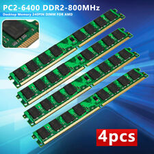 8 GB 4x2GB DDR2 PC2-6400 DDR2-800 MHZ MEMORY DIMM PC DESKTOP RAM AMD 240 PIN NEW