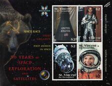 YURI GAGARIN First Man in Space / Alan Shepard Stamp Sheet (2008 St Vincent)
