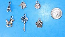 6pcs Tibet Silver Pendants LOT #3 Mixed Crafts Jewelry Making Charms