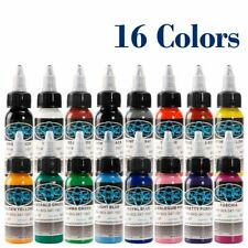 High Quality Fusion Tattoo Ink 16 Colors Set 1 oz. 30ml/bottle Paint Kit for 3D