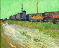 Vincent van Gogh Railway Carriages Fine Art Home Decor Print on Canvas Small