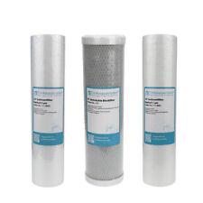 "Filter Set 10"" 3-teilig Ersatzfilter Umkehrosmose Anlage RO Sediment Aktivkohle"