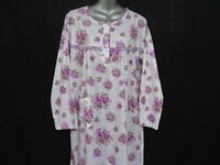 COTTON RICH LONG SLEEVE(SOFT) NIGHTDRESS GOWN ROBE SIZES 10-12 TO 26-28