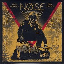 """SEALED Shepard Fairey SIGNED Noise State Violence State Control 7"""" Record Obey"""