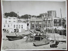 VINTAGE Photograph BROADSTAIRS Beach Bleak House Pub KENT 1960s Large Photo