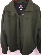 VTG Woolrich Wool Coat Women's Green Full Zip Jacket Size Large MADE IN USA
