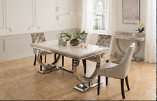 Marble Dining Room Up To 8 Seats Table Chair Sets