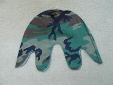 USED NEAR MINT WOODLAND CAMO CAMOUFLAGE M1 HELMET COVER 1980's Date. ERDL Style