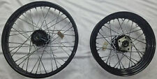 "BLACK 21"" & 16"" FRONT/REAR WHEEL SET HARLEY SOFTAIL FXST FXSTC DYNA WIDE GLIDE"