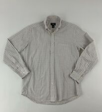 Alexander Julian Colours Mens Dress Shirt Size S White/ Multicolor Plaid