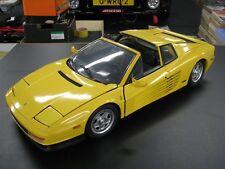 Pocher built kit Ferrari Testarossa Targa 1:8 yellow