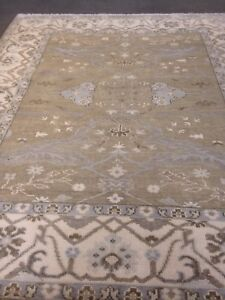Rare Stunning Fine Oriental Area Rug / Knotted Oushak wool pile 8'x10' Ushak A+